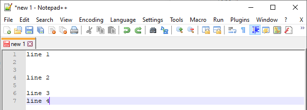 Notepad++ editor - before empty lines removal - https://dirask.com/q/x1RKMD
