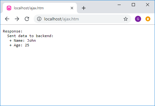 jQuery AJAX POST request with alternative API to PHP backend