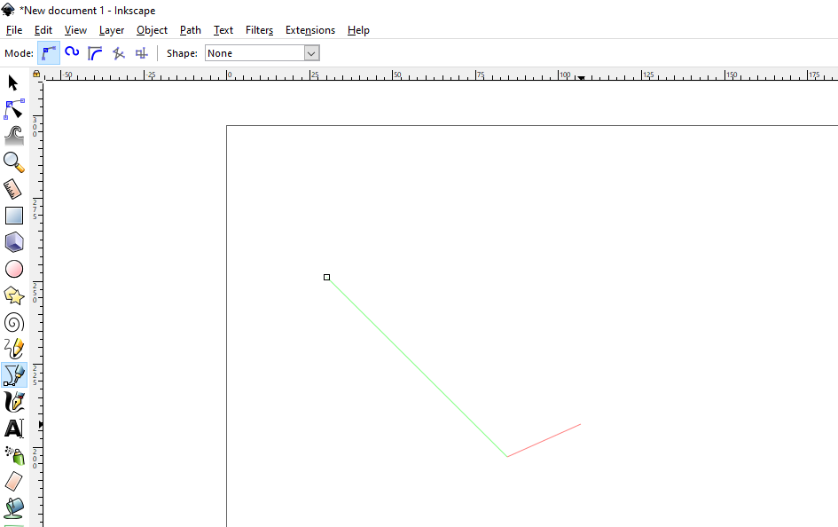 Inkscape - How to Draw Straight Line step 1
