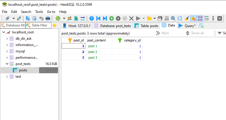 database data with new column and index and default value 1