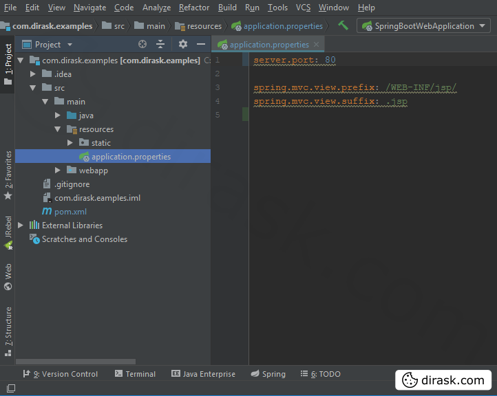 server.port with application.properties file location - Spring Boot + IntelliJ