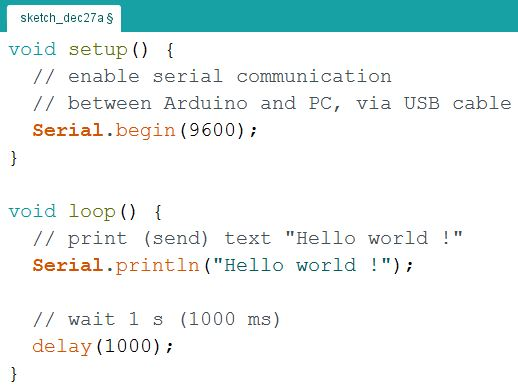 Arduino hello world application