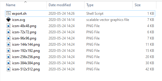 Svg icon exported to png files with Inkscape in Bash