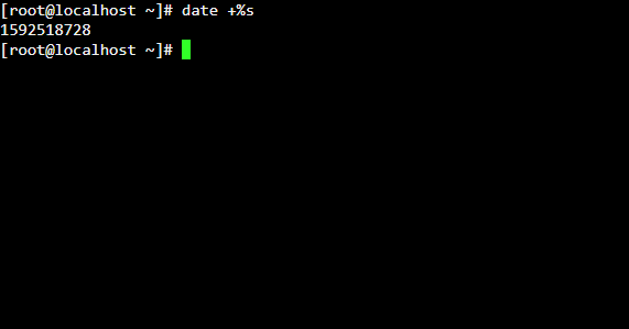 Unix date in seconds example - Linux with Bash