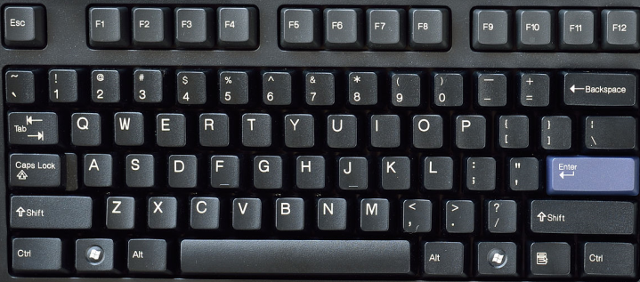 Keyboard image - scaled and centered