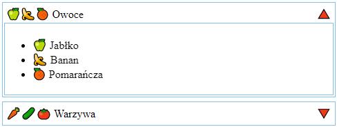 Przykład prostego ekspandera w React