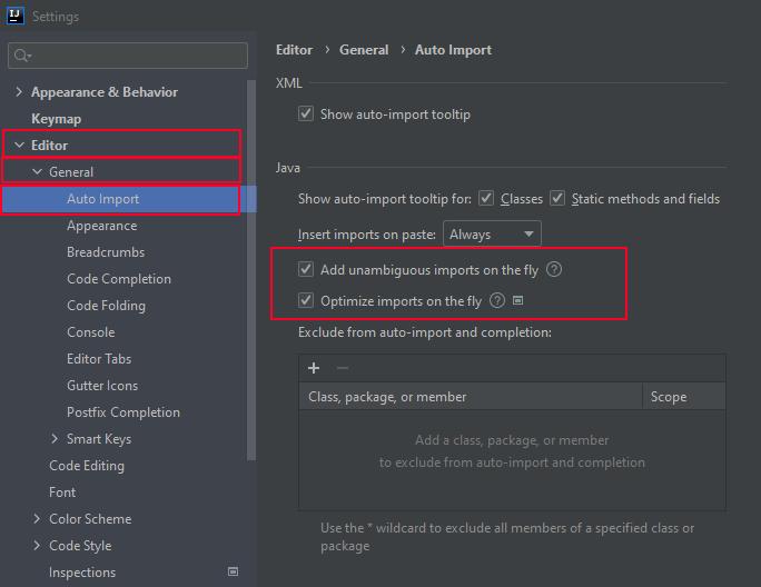 Intellij IDEA - add unambiguous imports on the fly | add automatic imports