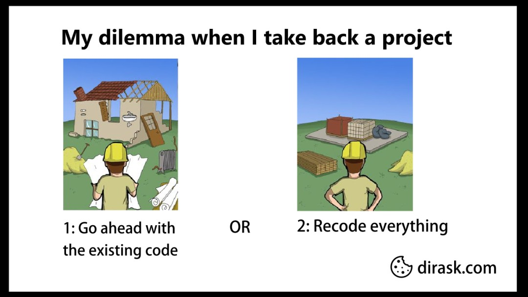 My dilemma when I take back a project