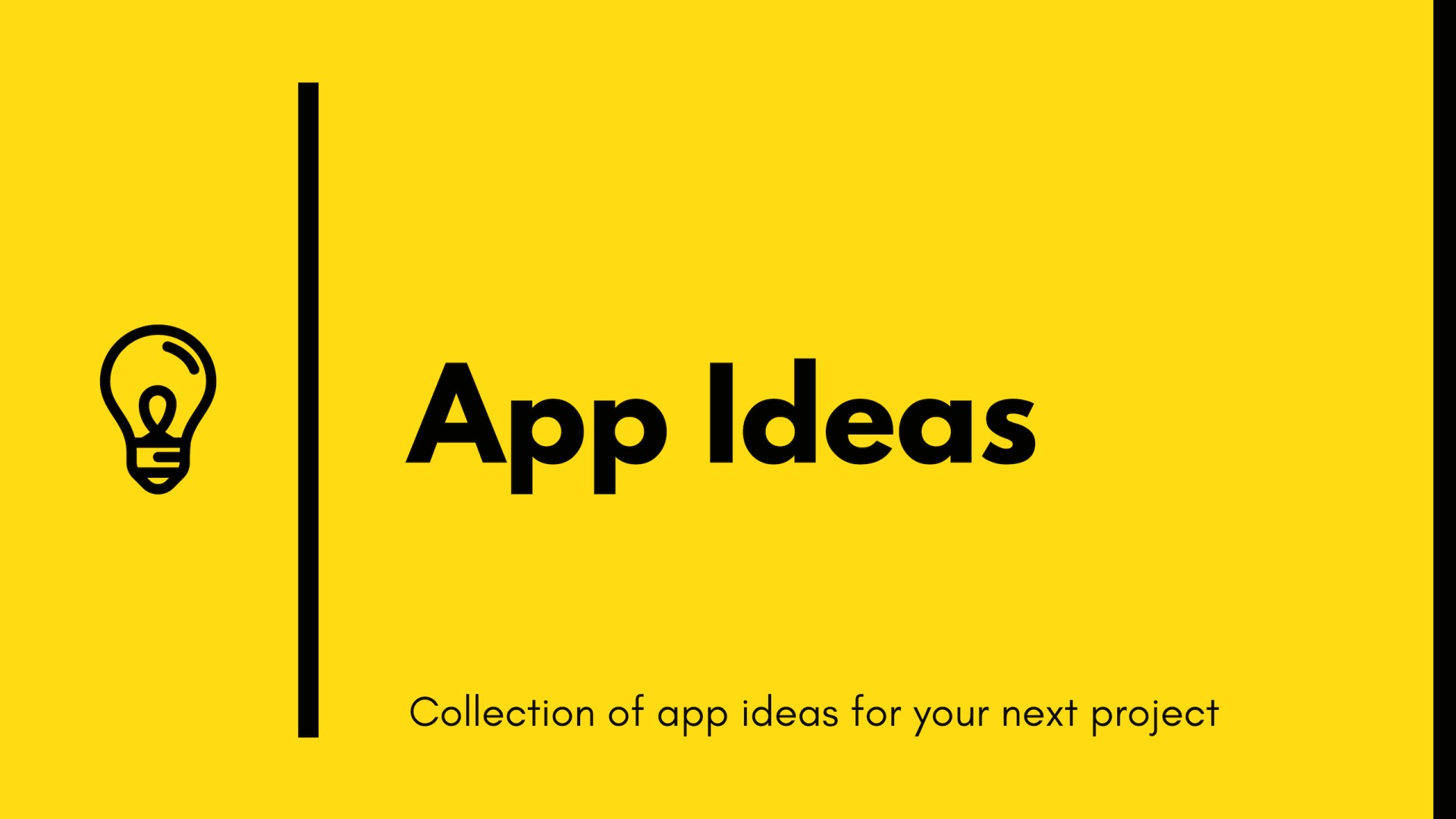 App Ideas Collection - github florinpop17/app-ideas