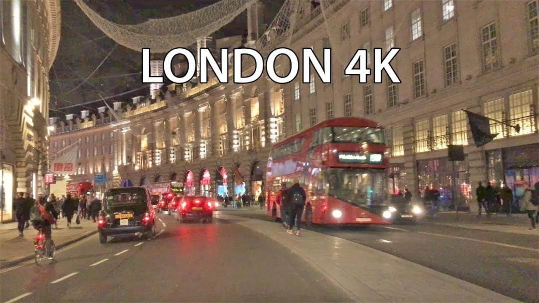 London 4K - Night Drive - UK